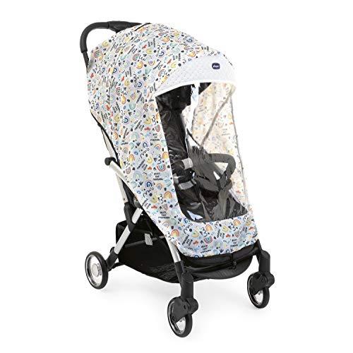 Chicco 05079721930000 - Chicco - Funda protectora universal para sillas de paseo de bebés y niños (tranparente y transpirable, para todos los carritos y cochecitos, diseño arcoiris), unisex