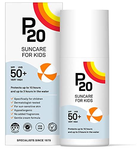 P20 ® | Sonnencreme Kinder | Sehr hoch wasserabweisender Sonnenschutz für Kinder spf 50 zum zuverlässigen Schutz vor UVA- und UVB-Strahlen | Daylong Sonnencreme Creme Format | 200 ml