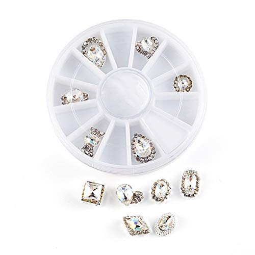 Flat Back AB Crystal Nail Art Rhinestones For Nail Art Decorations Round Crystal Gems Stickers For Clothes And Craft for Nail Jewelry Decorations (Color : Multi-colored)
