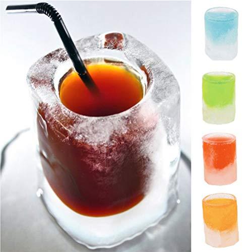 Atrumly Creativo 3D Ice Cube Stampo Freeze 4 Bicchieri Stampo Vassoio Estivo Festa Cucina Bere Bar Strumenti Vetro