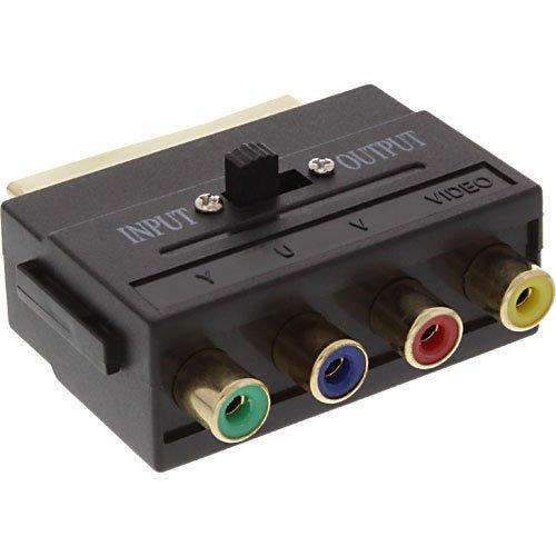 Unbekannt Inline - Adaptador para Cable (euroconector y 4 Conectores RCA) 3...