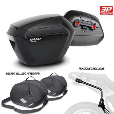 Kit-shad-2593 - Kit Fijaciones y Maletas Laterales + Bolsas internas Regalo sh23 Compatible con Yamaha Tracer 700 2016-2016