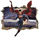 Calcomanías Etiqueta de la pared Superman pared calcomanía 3D...