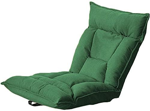 WWJ Japanese Simplicity Floor Chair - Sofá de Suelo Plegable con Respaldo Ajustable en 6 ángulos extraíble y Lavable para Leer, meditación, Yoga, Videojuegos, Rojo + Azul 58 x 55 x 60 cm