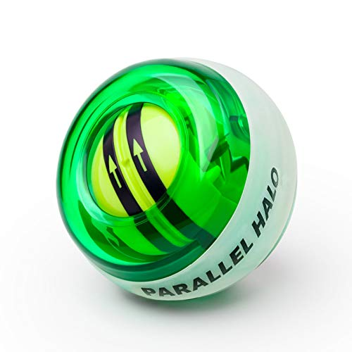 Parallel Halo Power Wrist Ball AUTO Start Wrist Exercises Force Ball Gyroscope Ball Wrist Forearm Exerciser Arm Strengthener for Stronger Muscle and Bones Green Without LED