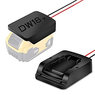 Amazon - 30% Off on  Power Wheels Battery Adapter ,Power Dock Adaptor Tool Kit Compatible with Dewalt 18V/20V Battery