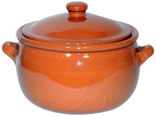 Amazing Cookware Olla para guisar con Capacidad de 3 litros, una Maravillosa Pieza de Cocina de Terracota Natural