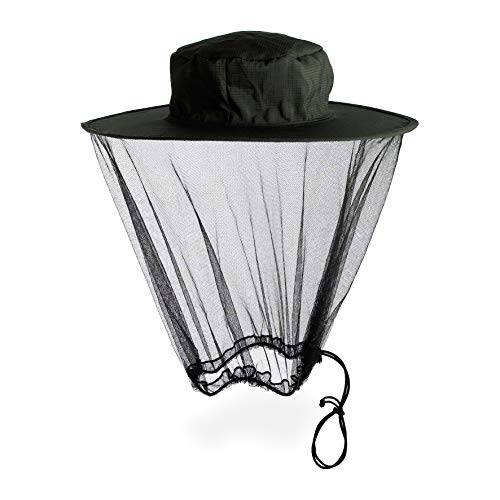 Lifesystems Midge/Mosquito Head Net Hat Mixte, Black, Taille Unique