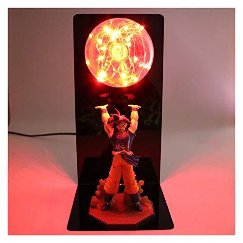 DEALBUHK Dragón B A L L L L ACCIÓN CARACTER DE ACCIÓN Goku Son Colección Estatua DIY Anime Modelo DBZ Ball LED Light Light NIÑOS Juego DE BABÉ (Color : Red)