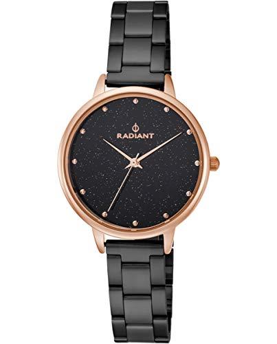 Reloj analógico para Mujer de Radiant. Colección Meteorito. Reloj Bicolor Negro y rosé. 3ATM. 36mm. Referencia RA472201.