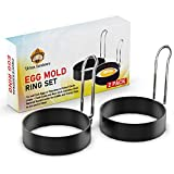 ➤ MAKE PERFECT MESS-FREE EGGS EVERY DAY - We solved the issue that we all can relate too – ugly half-broken eggs on the plate. Our Egg Ring makes it super easy to fry perfectly round eggs without any hassle. Try it now and thank us later! ➤ MULTIPURP...
