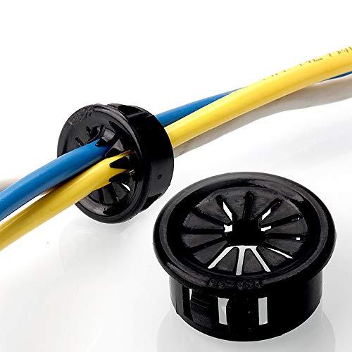ojales para cables de goma, 10pcs hebilla plástica turística alambre agujero de...