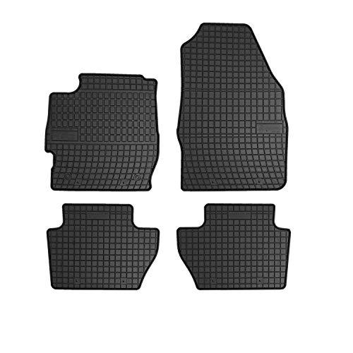 Frogum Gummimatten Auto Fußmatten Gummi Passgenau 4-teiliges Automatten Set Schwarz