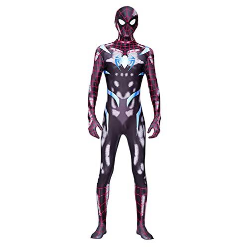 HJBCED - Costume da supereroe da Spiderman, unisex, per adulti, PS4, gioco esclusivo, da guerra segreta e spider per cosplay