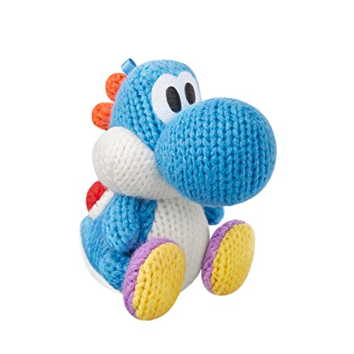 Light Blue Yarn Yoshi Amiibo (Yoshis Woolly World Series)
