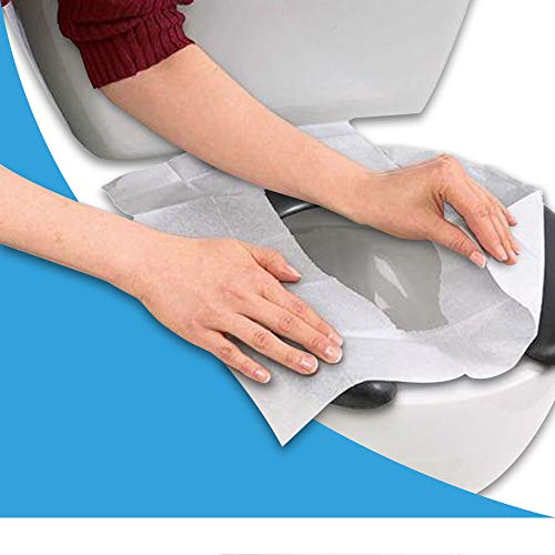 In My Bathroom   Neat Sheet - Toilet Seat Covers (Sanitary Toilet, Avoid Germs, Disposable Paper, Travel Size, Pack of 10x3)