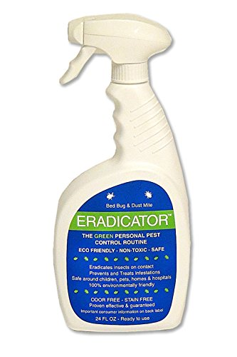 Bed Bug, Dust Mite ERADICATOR 24 oz Ready to Use Spray, Natural Solution That Safely Removes...