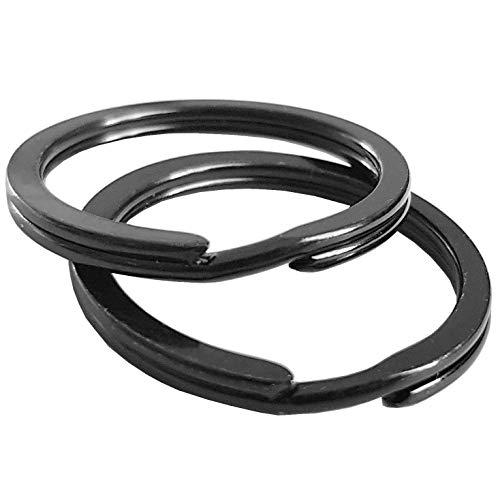 Fuchs Schlüsselringe | 30mm - 50 Stück | gehärteter Stahl | Robust | schwarz | Außendurchmesser 25mm | magnetisch | Ring für Schlüssel, Schlüsselanhänger, Auto, Basteln, Schlüsselring Set