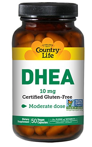 Country Life DHEA 10 mg, 50 Capsules (Pack of 3)