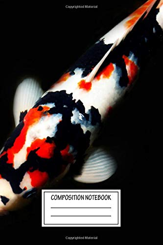 Composition Notebook: Abstract Koi Body Odd Bits Wide Ruled Note Book, Diary, Planner, Journal for Writing