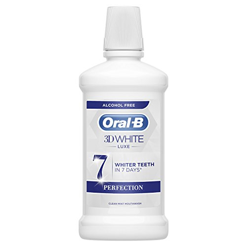 Oral-B 3D White Luxe Perfección Enjuague Bucal, Sin Alcohol, 500 ml