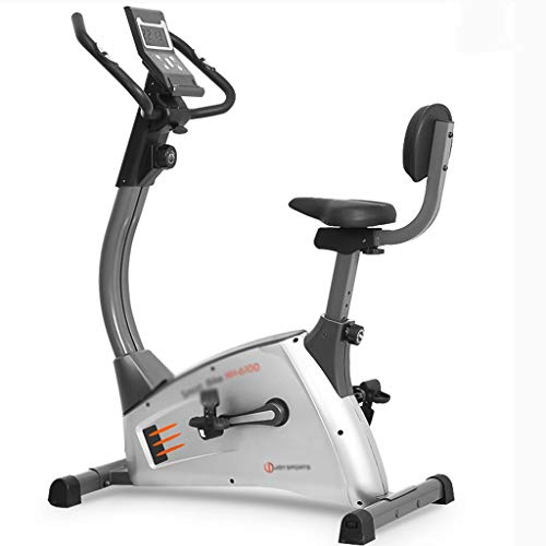 Hometrainer Spinning Fiets Roeien Machine Household Bike Indoor Weight Loss Device Full-body Oefening Pedal Magnetic Controle Hometrainer (Color : Silver, Size : 100 * 60 * 140cm)