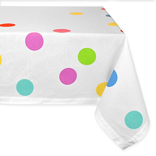 DII Cotton Tablecloth for Dinner Parties, Weddings & Everyday Use, 60x120, Confetti