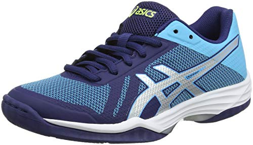 ASICS Damen Gel-Tactic Volleyballschuhe, Blau (Indigo Blue/Silver 400), 41.5 EU