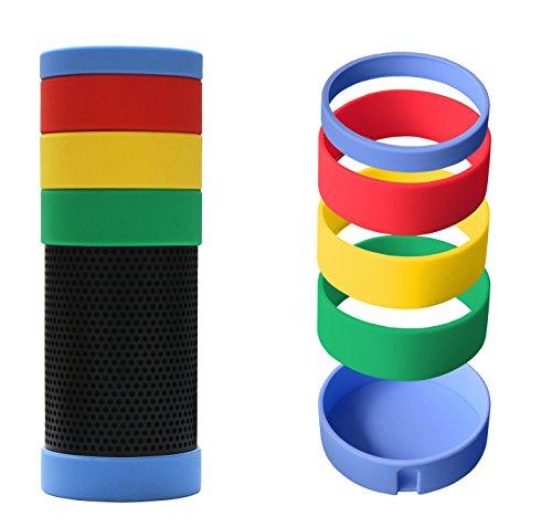 Meres caso de echo de silicona - nuevo elegante con estilo a prueba de choques DIY colorido caso para Amazon Echo, pieles suaves con mult-colores para Amazon Echo (arco iris)
