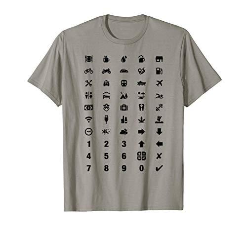 Vacation Travel Tourist Translator Holiday Language Icons T-Shirt