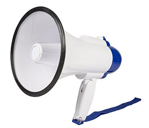 Invero® 10W Handheld Loud Megaphone Speaker with Built-In Microphone,...