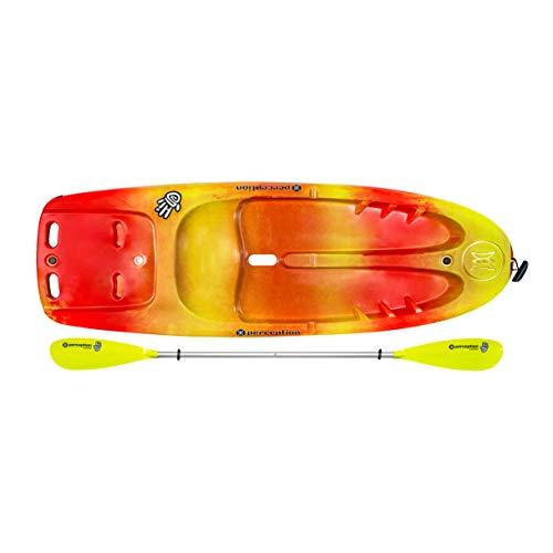 Perception Kayaks Hi Five | Sit on Top Kids Kayak for Kids up to 120 Lbs.| Youth...