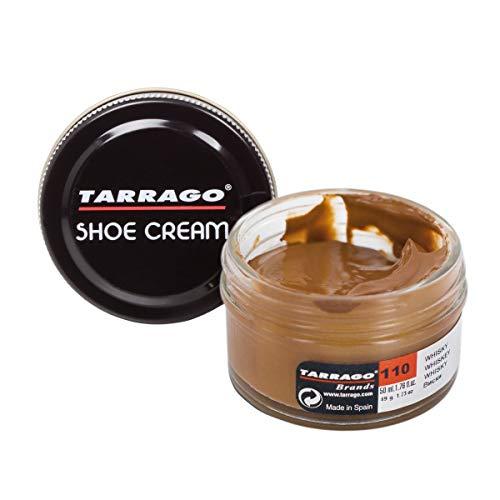 Tarrago | Schuhcreme 50 ml | Pflegende, glänzende und schützende Creme für Schuhe, Schuhe, Taschen und Accessoires aus Leder, Leder und Kunstleder (Whisky 110)