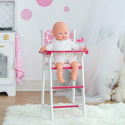 Chaise Haute pour Poupon poupée Jouet Rose Motif Girafe Olivias Little World TD-0098AF