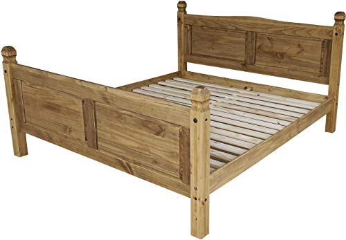 Brasilmöbel Doppelbett 180x200 Brasil Rio Classico Schlafzimmer Holz Pinie Massivholz Echtholz Farbe wählbar