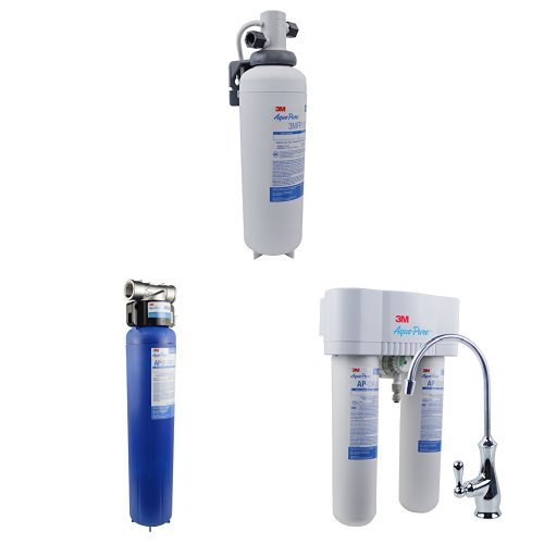Aqua-Pure AP-DWS1000 Drinking Water System, Under-Sink & AP904 - Whole House Water Filtration System & 3M Aqua-Pure Under Sink Water Filtration System, Model 3MFF100, 5616318
