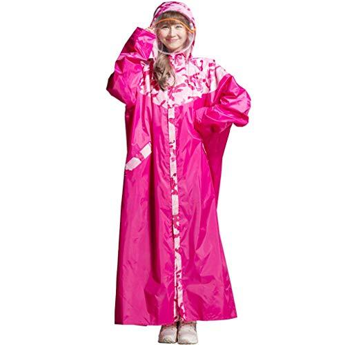 Mustbe Strong Camouflage Poncho mit Kapuze Super Long Style Erwachsene Regenmantel PVC weich wasserdicht vorne offen Arbeitskleidung für Outdoor Camping Wandern,Pink,L