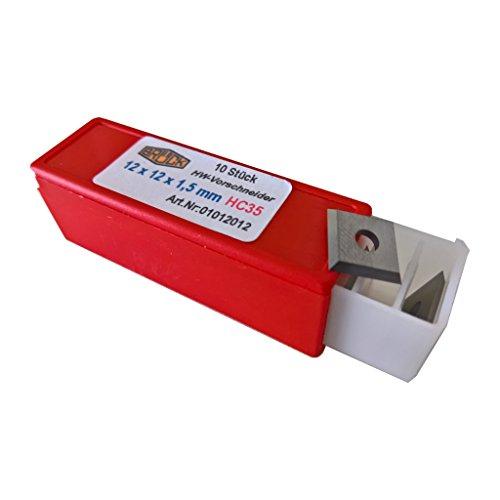HW Vorschneider HM 12 x 12 x 1,5mm Z4 Wendeplatten Wendemesser 10 Stück - 01012012 - Made in Germany