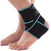 Ankle Brace For Women Men - Adjustable Ankle Support Brace For Achilles Tendon Support - Elastic Foot Brace - One Size Fits All