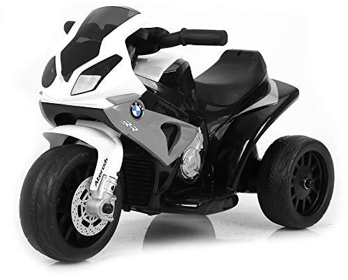 giordanoshop Moto Motocicletta Elettrica per Bambini 6V BMW Grigia