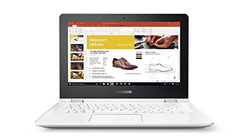 Lenovo Yoga 300 29,5 cm (11,6 Zoll HD TN Touch) Convertible Laptop (Intel Celeron N3060, 4GB RAM, 500GB HDD, Intel HD Grafik 400, Windows 10 Home) weiß