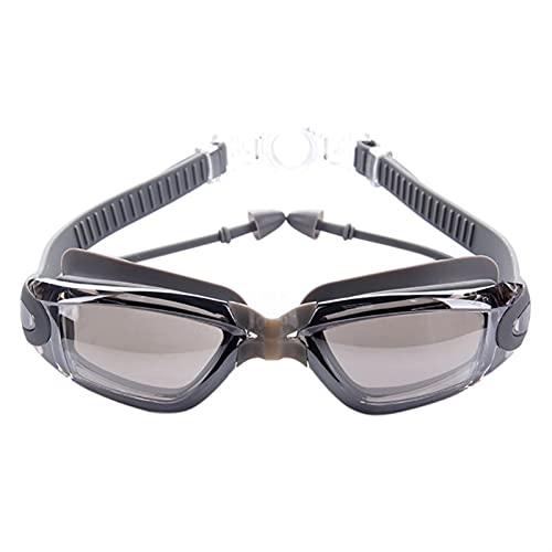 SRXSMGS Gafas natación Hombres Profesionales y Mujeres Anti-Niebla y Gafas de natación de Silicona Anti-Ultravioleta con Tapones para los oídos Gafas de natación (Color : 1)