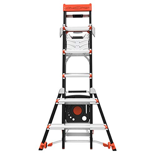 Little Giant Ladder Systems 15131-001 Select Step 6 to 10-Feet Adjustable Fiberglass Stepladder