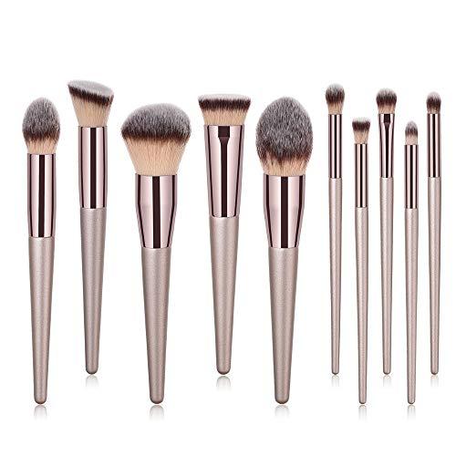 KALFH Pinceaux À Maquillage De Luxe Champagne Or Maquillage Brosses Set Poudre Blusher Blender Blender Professionnel Outils De Beauté Professionnels