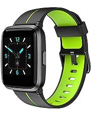 AIKELA Smartklocka fitnessmätare med blodsyre, blodtryck, hjärtfrekvens, sömnmonitor 5 ATM vattentät aktivitetsmätare stegräknare sport fitness klockor för kvinnor män för iOS Android (grön)