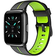 AIKELA Smart Watch Fitness Tracker for Android Phones and Compatible iPhone, Smartwatch with Blood Oxygen Meter, Blood Pressure Monitor, 5ATM Swimming Waterproof, Fitness Watch for Women
