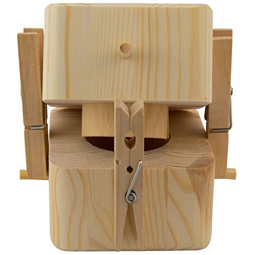 Beziehungskiste (2 Ringe) – zu zweit öffnen – gravierte Verpackung für Geldgeschenke für das Brautpaar – Geld verpacken für Hochzeitsgeschenke mit Gravur – Trickkiste personalisiert mit Namen - 4