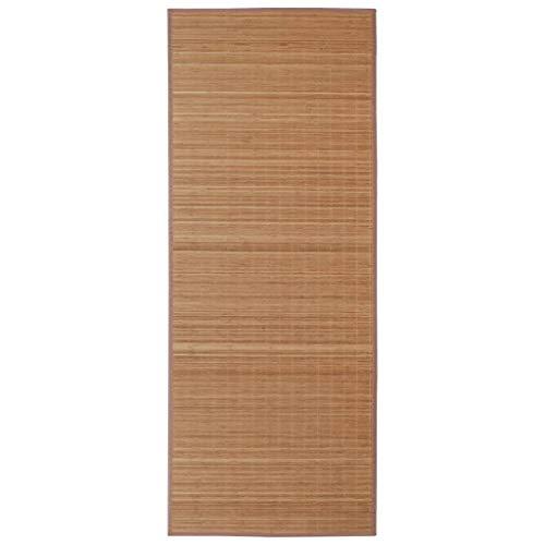 vidaXL Alfombra de Bambú 160x230cm Marrón Moqueta Decoración Casa y Hogar