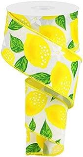 lemon print ribbon