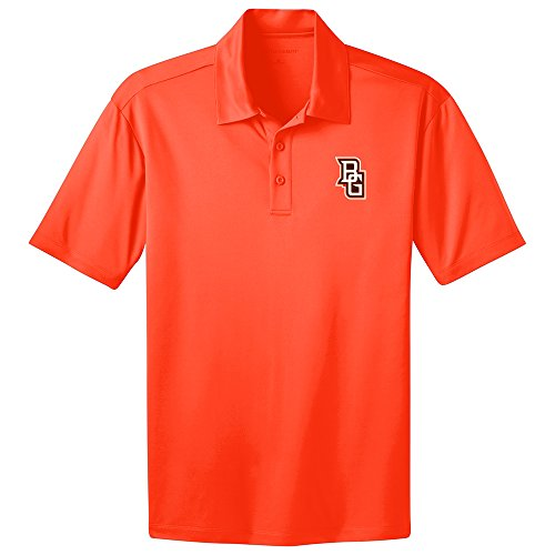 Campus Merchandise NCAA Bowling Green Falcons Men's Performance Polo Shirt, Small, Neon Orange